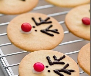 christmas, Cookies, and reindeer image