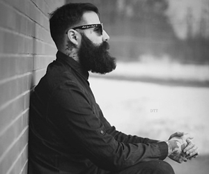 alternative, beards, and black image
