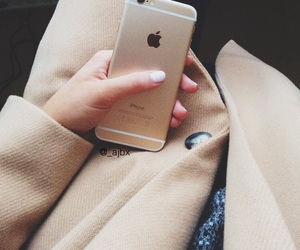 iphone, fashion, and gold image