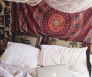 tumblr, bedroom, and bed image