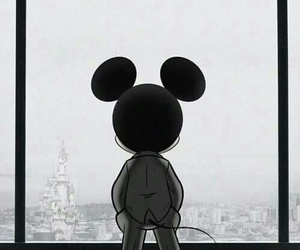 disney, mickey mouse, and grey image