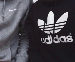 adidas, nike, and couple image