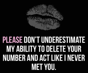 please dont, your number, and underestimate me image