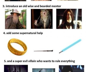 films, LOTR, and harry potter image