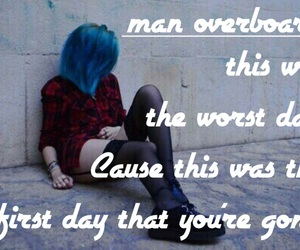 blue, grunge, and man overboard image