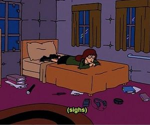 Daria, sad, and cartoon image
