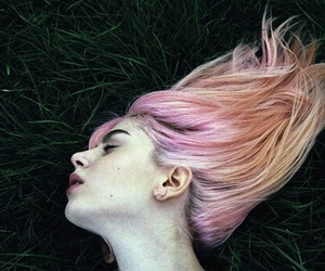 pink hair and hair image