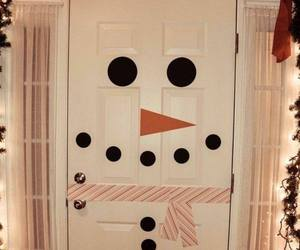 snowman, christmas, and door image