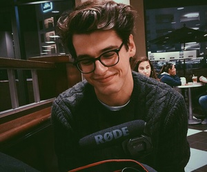 boy, glasses, and smile image