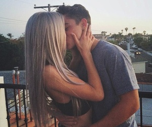 love, couple, and kiss image