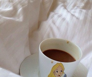 alice, coffee, and alice in wonderland image