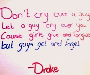 quote, Drake, and cry image