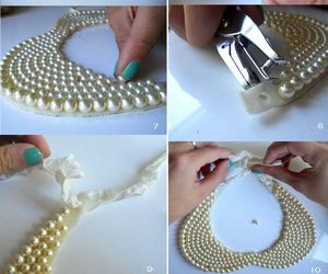 diy, pearls, and collar image