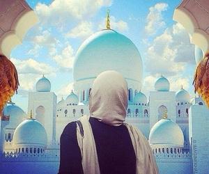 muslim, hijab, and mosque image