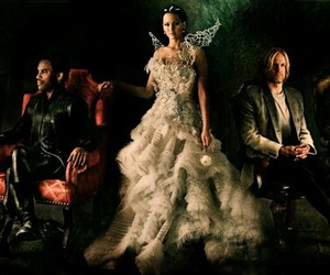 katniss, catching fire, and hunger games image