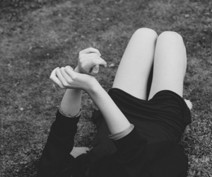 girl, photography, and grass image