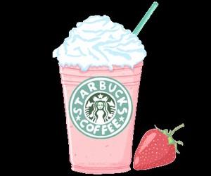 starbucks, strawberry, and kawaii image
