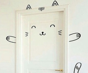 cat and door image
