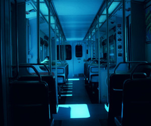 blue and train image