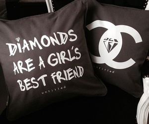 diamond, chanel, and pillow image