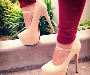 high heels, shoes, and heels image