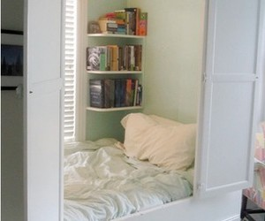 bed, closet, and cute image