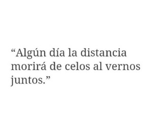 love, distancia, and frases image