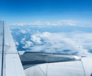 airplane, clouds, and planes image