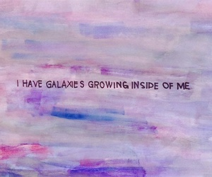 galaxy, quotes, and art image