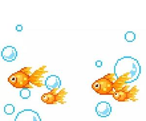 fish, pixel, and transparent image