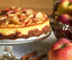 apple, cake, and cheesecake image