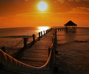 sunset, photography, and beach image