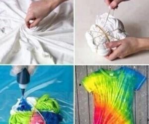 diy, t-shirt, and colors image