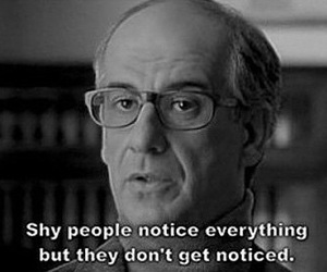 shy, quote, and people image