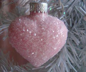 christmas, pink, and heart image