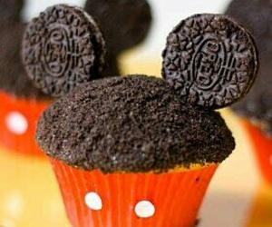 cupcake, oreo, and mickey mouse image