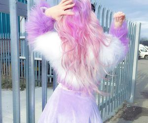 pink, hair, and outfit image