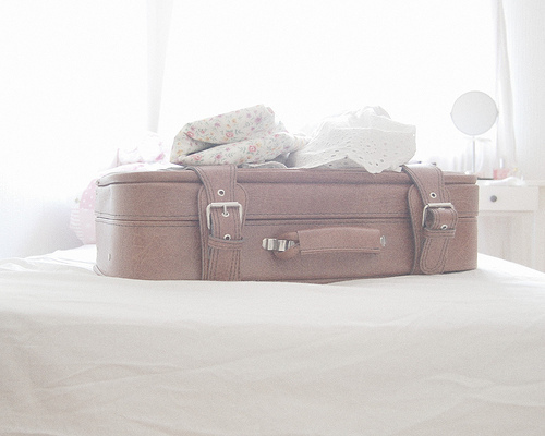 suitcase, pastel, and vintage image