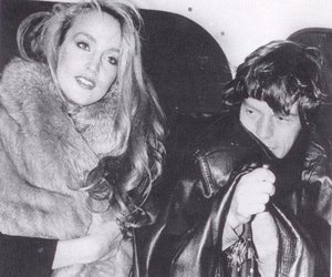 Jerry Hall and mick jagger image