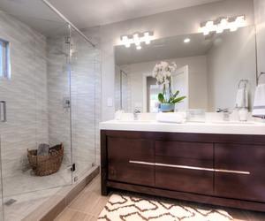 bathroom, bath, and decor image
