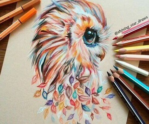 art, drawing, and colourful image