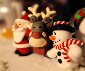christmas, santa, and snowman image