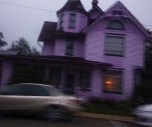 grunge, house, and purple image