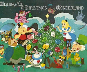 alice in wonderland, disney, and christmas image