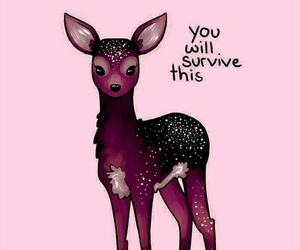 quotes, deer, and survive image