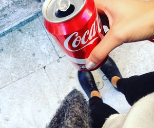 coca-cola, drink, and food image
