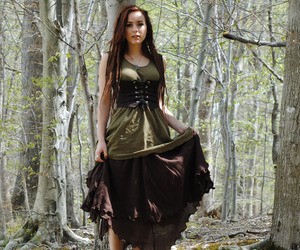 forest fashion, forest style, and forest wardrobe image
