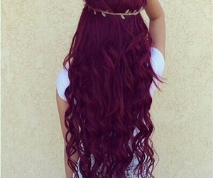 awesome, burgundy, and curly image