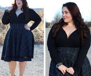 autumn, checkered, and fashion image