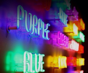 colours, lights, and neon image